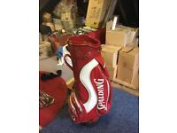 Spalding golf trolley bag and clubs