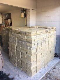 BLOCK PAVING (10p per brick) 4,000+ BRICKS (YELLOW & BLACK MAINLY)