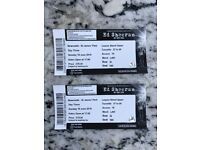 2 X Ed Sheeran Tickets (Sunday 10th June) Newcastle St James' Park