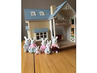 Sylvanian Families Bluebell Cottage with accessories and characters