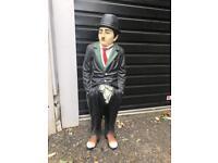Vintage Charlie Chaplin display prop statue