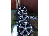 "Audi 18"" rota replica alloy wheels"
