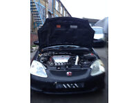 honda civic type r ep3 2003 knocking engine for sale complete