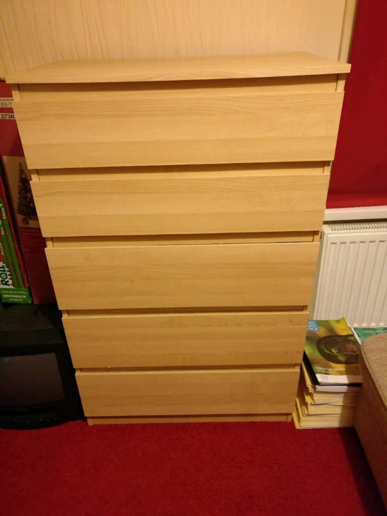 Ikea Kullen 5 Drawers Pine Effect
