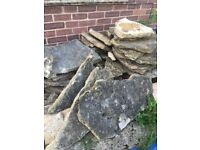 Used Natural Stone Paving Slabs