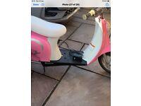 Girls Battery Moped Pink Retro 24 volt