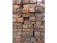 Reclaimed red bricks
