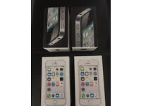 TWO I PHONE 5S BOXES AND TWO I PHONE 4 BOXES ONLY