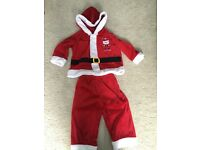 Santa dress up costume size 9-12months