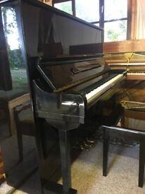 * FREE DELIVERY!* Stunning Strauss Gloss Black Modern Piano (like Yamaha U3) - refurbished