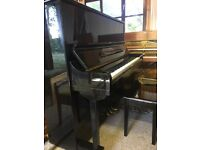 Stunning Strauss Gloss Black Modern Piano (like Yamaha U3) - fully refurbished - *free delivery*