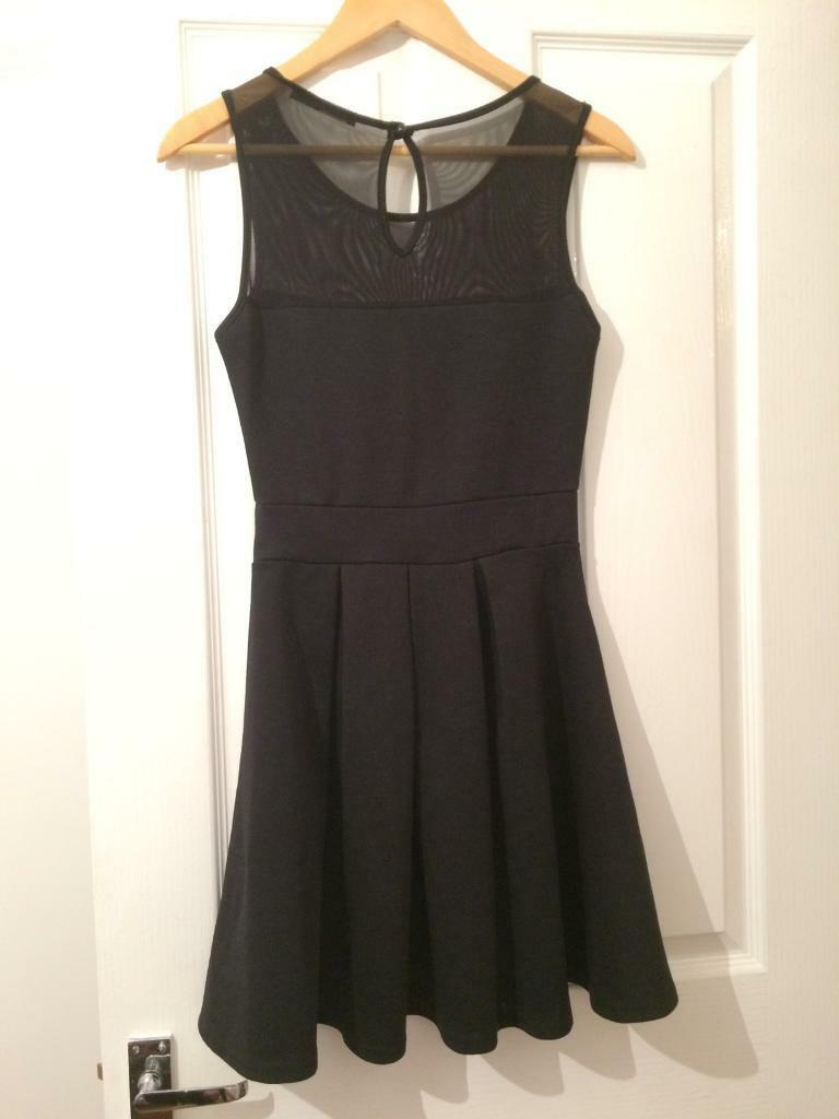 Black prom dress, size 10