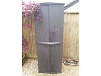 Keter Rattan Effect Garden Utility Shed – Brown
