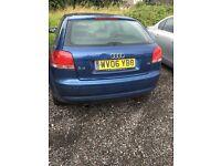 Audi A3 1.6 petrol blue 3 door reg 06 Manual