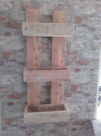 Rustic Multi Shelf Display Unit Wall mount