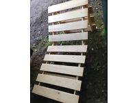 Wooden Slatted Sun Lounger