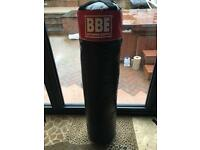 BBE boxing punch bag with boxing gloves