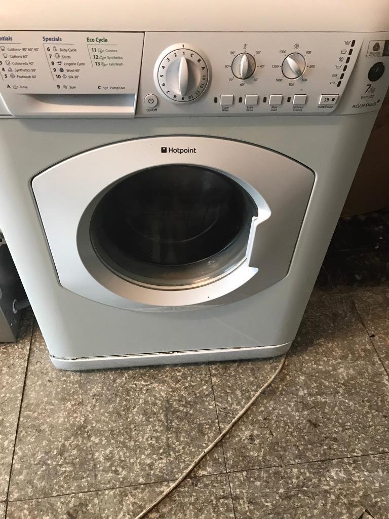 Hot point white washing machine 7kg