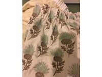 Bargain....Stunning thistle patterned lined curtains 333cm wide by 269cms drop Huge can be altered