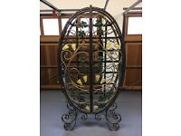 Hand Crafted Wrought Iron Wine Rack - holds 65 bottles