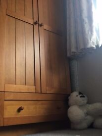 Child set of cupboard and bed with mattress