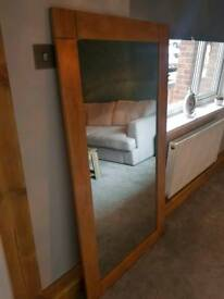 Oak furniture land mirror
