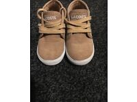 Brown Lacoste boys shoes