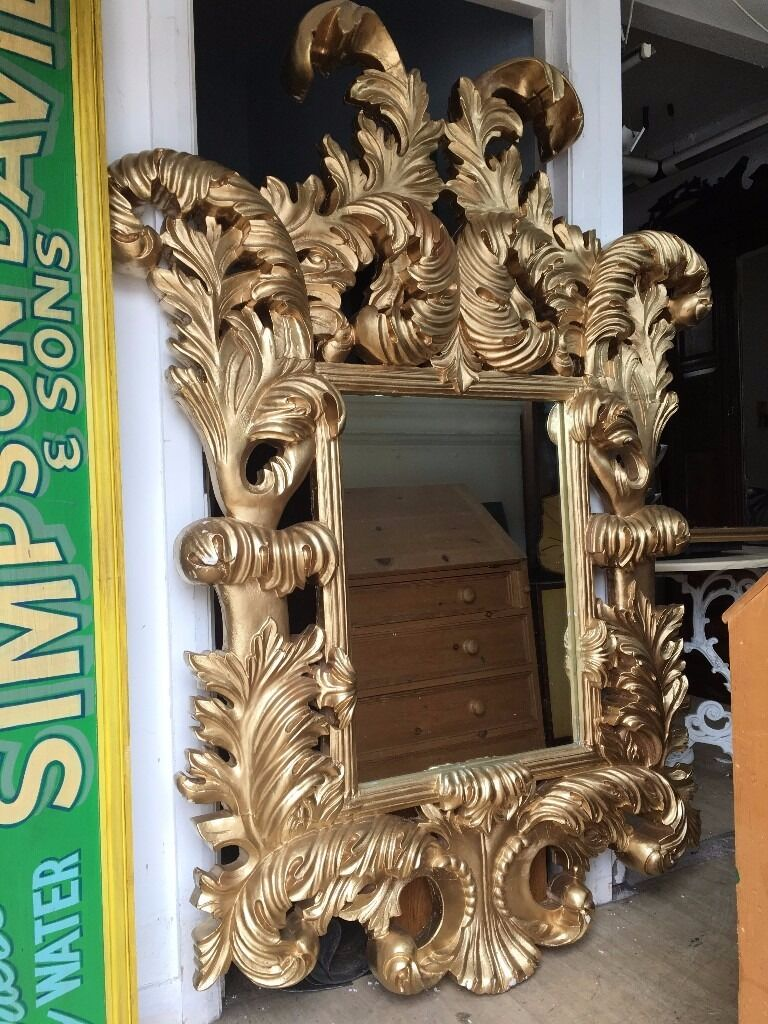 Huge Gold Mirror French Ornate Rococo Very Thick Chunky
