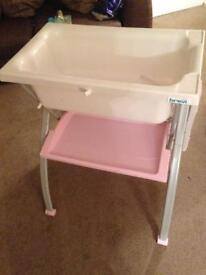 Baby girl changing table