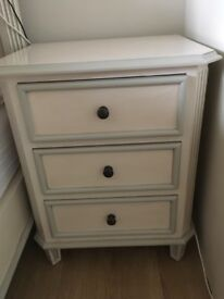 Pair of French Shabby Chic bedside cabinets ( will separate)