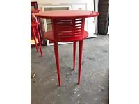 2 x Red High Gloss Finish Tables