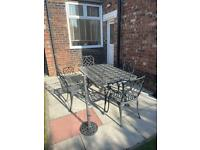 Heavy iron garden outdoor table and chairs furniture set