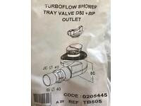 Turboflow shower tray valve and outlet/ new shower waste