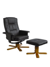 Drake Recliner Office Chair with Matching Footstool - Brand New In Box - ***£339 From Littlewods***