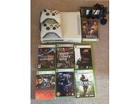 Xbox 360 with 2 Controllers & 11 Games