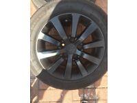 Black Honda Civic 5 stud alloy wheels