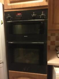 Bosch Double built-in electric oven (black)