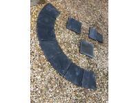 Black limestone slabs.. ideal curved step.
