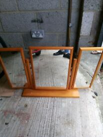 Pine dressing table mirror, good condition