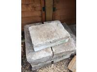 9 concrete blocks
