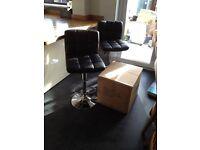 Brand New black padded bar stools - Still in the box