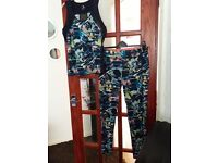 Gym outfit top size 14/16 bottoms 14 only worn once so like new