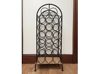Black metal 20 bottle wine rack
