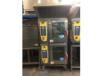 Stacked Rational SCC61 5 Grid Ovens with Stand and Ultravent hood (Can be Single Phase or 3 phase)