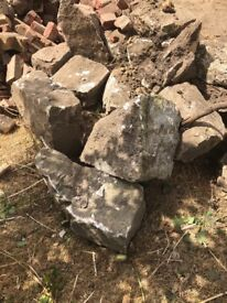 Free rockery stones large and small