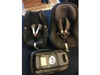 Maxi-cosi Pearl, Pebble and Isofix Base for sale
