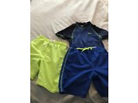 Boys next swimming shorts size 7 years & bluezoo swimming shorts and top size 6-7
