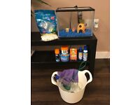 £35 Fish Tank 12 Litres inc. Filter, Ornaments, Food, Bucket, Net, Tapsafe & Siphon