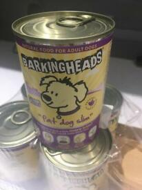 5 tins barking heads fat dog Slim