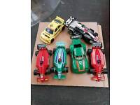 Micro scalextrix cars x 8